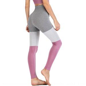 mOjLJ sans soudure trois couleurs pantalon de yoga couture pantalons professionnels de yoga autocollants corps sport autocollant moulants en cours d'exécution Close- de fitness