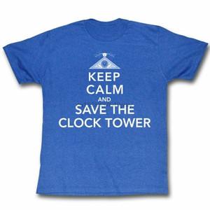 Geri Geleceği Keep Calm Kraliyet Yetişkin Tişört