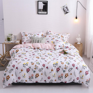 Bonenjoy Bedding Set Single Queen King size Floral Style Quilt Cover With Pillowcase jogo de cama Flat Sheet For Double Bed