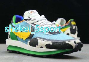 oblique Ben x Sacai x LDV Waffle LDWaffle Chunky Dunky Jerrys Running Shoes Men Women Daybreak NYLON Pine Green Trainers CN8899-006