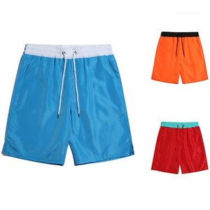 Mens Colorblock Solid Sports Shorts Loose Sumemr Lace Up Mid Waist Fitness Short Pants