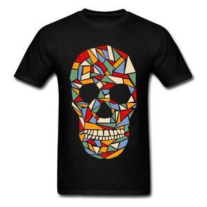 Skull T Shirt Shattered Daydream Men Tshirts Top T-shirts 100% Cotton Company Custom Clothes Geometric Skull Tees Free Shipping