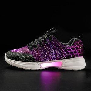 Moda 2020 zapatos de flash colorido baile de los niños USB zapatos luminosos de los niños recargables