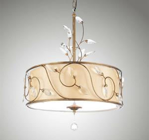 Modern Kitchen Leighton 3 Light Inverted Drum Crystal Pendant Lamp Bar Villa Hotel Home Ceiling New PA0432