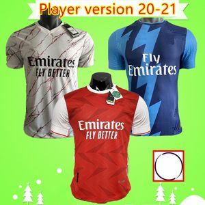 Player version 2020 2021 soccer jersey home red away white third blue TIERNEY 20 21 Mens football shirt PEPE Camiseta de futbol CEBALLOS