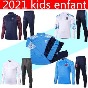 20 21 paris Survêtement ajax soccer pour enfants 2020 2021 madrid réel Mbappe marseille Survêtement de course à pied Survêtement de football chandal futbol