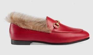 luoyuruei2018 Women red Jordaan fur loafer Moccasins Loafers Ballerina Flats Boots Booties Espadrilles Wedges Slides Thongs Sneakers shoes