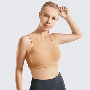 Women's Wirefree High Impact Bounce Control Sports Bra Plus Size Non-Padded Full Figure Bras
