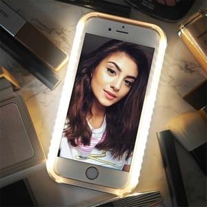 Lüks Aydınlık Telefon Sumsung S9 için 6 7 8 Artı Mükemmel Selfie'nin Light Up Parlayan Vaka IPhone 11 Pro XR XS MAX