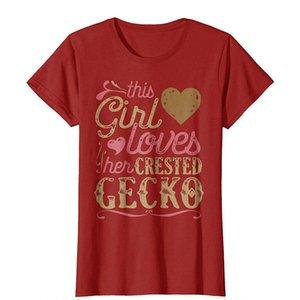 Женщины Tee хохлатой Gecko рубашка Gecko Tshirt подарки Geckos Tee 2018 Летний Harajuku марка