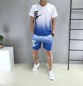 Designer Herrenanzug beiläufige zwei Stücke Klage Breath Shirts + Shorts Hosen Fashion dünne Sport Tracksuits 2 Farben-Größe L-4XL