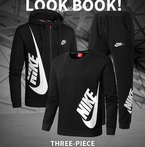 Zu 3 Sets Zipper Hoodies + Hosen-Mann Anzug Männer Casual Slim Fit Sportswear Männer übersteigen Sweat Frauen Jogginganzug