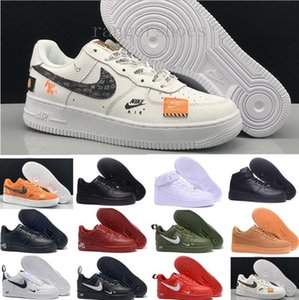 Sale 2019 New Design Forces Men Low Skateboard Shoes Cheap One Unisex 1 Knit Euro Air High Women All White Black Red Casual Shoes KK9-G