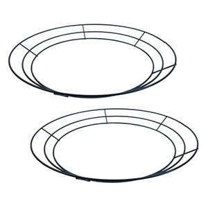 2-Pack Round Metal Wire Wreath Frame Form Hanger - Succulent Pot Metal Hanging Planter Plant Basket Holder - 30cm  12inch Y200709