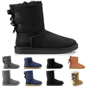 botas de neve atacado para mulheres meninas triplo castanha preto azul marinho Café clássico da moda tornozelo curto inicialização das mulheres botas de inverno