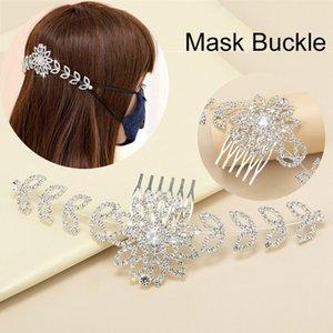 NOVO Quatro engrenagem ajustável Anti-Slip Máscara Orelha Grips Gancho Extensão Rhinestone Máscaras Buckle Titular Ear Hook Mulheres Meninas Headwear L427FA