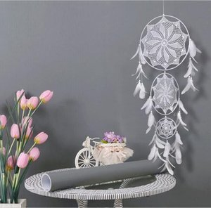 Wind Chimes Handmade Nordic Dream Catcher Net With Feathers Wall Hanging Dreamcatcher Craft Wedding Gift Home Decoration Wedding ALSK183