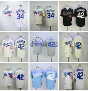 الرجال النساء الأطفال 42 جاكي روبنسون جيرسي 34 فرناندو فالنزويلا 1955 1963 خمر البيسبول الفانيلة قاعدة بارد