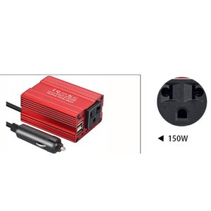 150W 3.1A Car Power Inverter DC 12V to AC 110V 220V Dual USB Converter Adapters E7CA