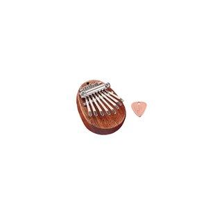 8 Chave Mini Kalimba Madeira Mogno Africano Thumb Piano Dedo