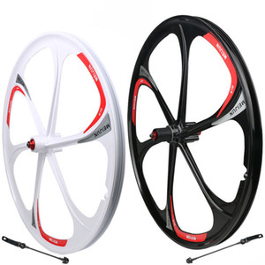 26-inch Mountain bike wheel aluminum-magnesium alloy 6-spoke wheels Quick release Lightweight bicyle