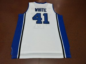Custom Men Youth women Vintage Duke Blue Devils Jack White #41 Basketball Jersey Size S-4XL or custom any name or number jersey