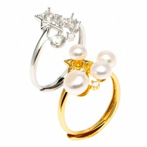Manufacturers Direct Selling New Style Fashion S925 Silver Ring Mountings nv shou shi Accessories Adapter 3-6 Mm Steamed Bread P Gldd#