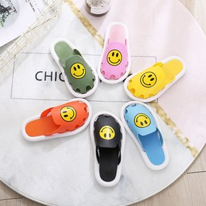 afFLE Jindali summer cartoon smiling shoes shoes face printing children's slippers cute parent-child slippers indoor and outdoor children's