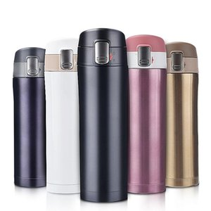 350ML 450ML Stainless Steel Double Wall Insulated Thermos Cup Vacuum Flask Coffee Mug Travel Drink Bottle Home Office Thermocup T200525