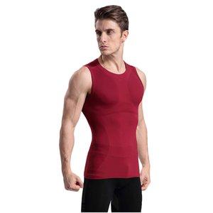 새로운 남성의 신체 조각 플라스틱 의류 가벼운 압력 편안하고 통기성 빠른 - 건조 스포츠 조끼