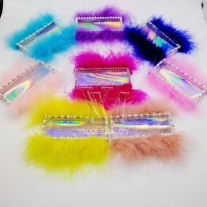 11 Styles personnalisés Cils Boîtes d'emballage boîte-cadeau Lashes Paquet Personnaliser Boîtes de rangement maquillage cosmétiques cas Mink faux cils 1pcs