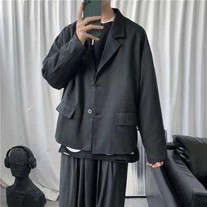 Male Women Streetwear Blazer Jacket Outerwear Men Retro Fashion Casual Short Suit Coat