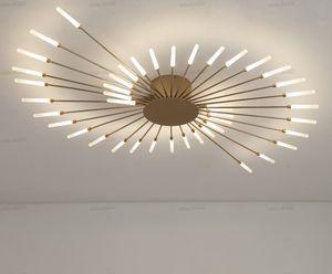 LED Lustre plafond pour salle à manger Salon Chambre Maison Décoration Hanging Lumières Or Or Noir moderne Creative New Fixtures LLFA
