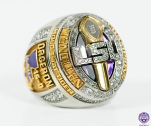 LSU 2019 2020 Geaux Tigers SEC National Hold That Tiger ORGERON Team Champions Championship Ring Fan Men Gift Wholesale Drop Shipping