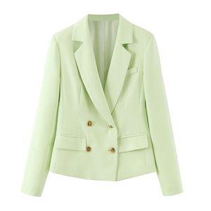 Fashion Women Solid Short Blazer Long Sleeve Korea Style Female Blazer Feminino Office Ladies 2020 Autumn Outwear