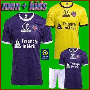 남자 + 아이 홈 (20 개) (21) FC 툴루즈 축구 유니폼 멀리 제 2020 SANGARE DIAKITE 코네 GRADEL SAID 실라 축구 셔츠