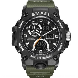 Smael Smale 8011 doubles calendrier semaine imperméable hommes multifonctions montre lumineuse sports de plein air sports de plein air lumineux