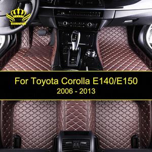 ROWNFUR Araç Paspaslar İçin Corolla E140 / E150 Su geçirmez Özel Deri Kat Mat İç Araç Halı Paspas 16er # Car-stil