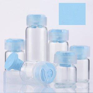 Klares Borosilikat-Glas Parfüm-Flaschen Flüssiges Reagenzflaschen mit flachen Boden Winzige Glasflaschen Kleine Glasgläser