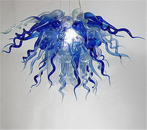 Free Shipping 110 220v AC Led Blown Colorful Chihuly Glass Chandelier Flower Design Flush Mount Ceiling Lights