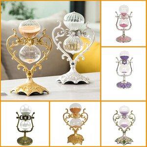 Vintage Kum saati Timer Figürinleri Masaüstü Dekorasyon Süsleme Ev Dekorasyon Aksesuarları Fotoğraf Dikmeler Doğum Günü Hediyeleri El Sanatları T200710