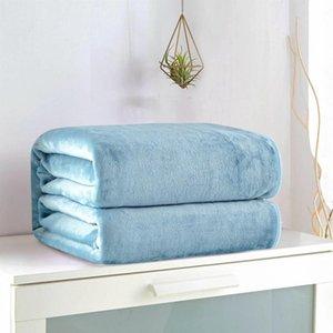 50*70cm Warm Flannel Fleece Towel Blankets Soft Solid Blankets Bedspread Plush Winter Summer Throw Blanket for Bed Sofa new LJJA3225-21