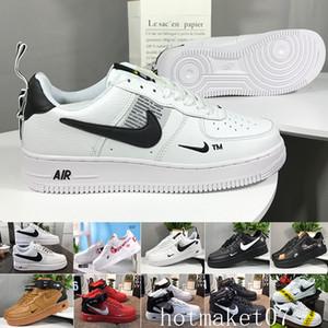 2020 Deri AF1 MANTAR Ayakkabı Numarası 36-46 GWV52 Running One New Classical 1 Beyaz Siyah Düşük Yüksek Cut Erkekler Kadınlar Sneakers Paten Ayakkabı dunk