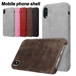 Plush Caso Fluff pele morno Phone Case Suave Toque Furry protecção rígido Capa para iPhone X 8 7 Plus 6 6S com OPP Bag