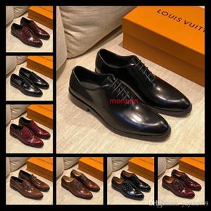 A1 52 Modell Lbrands Entwurfs-Kleid-Schuh-Leder Oxford Red Casual Wear Schuhe Mattlackleder Studs Flat Business Schuhe