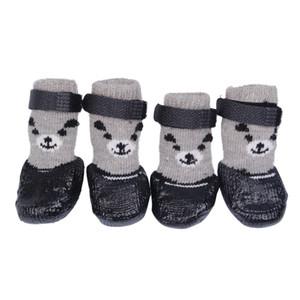 NOUVEAU Cotton caoutchouc Pet Dog Chaussures antidérapantes imperméables pour chiens Bottes de pluie neige Chaussettes Chaussures pour chiot Petit Chats Chiens