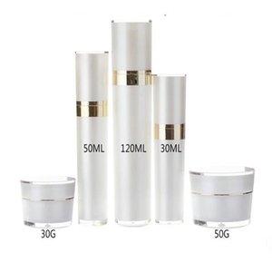 30ml 50ml 120ml acrilico Svuotare spruzzatore pompa lozione della bottiglia di profumo riutilizzabile della lozione Container Profumo Bottiglie 15g 30g 50g vaso crema