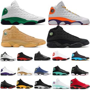 13S Jumpman القطة السوداء أورورا LUKY الجزيرة الخضراء عكسي القذرة ولدت أحذية كرة السلة بارونات 13 XIII الرجال ملعب القمح الرياضية حذاء حذاء رياضة