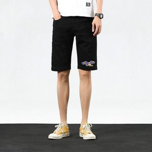 Luxury male Fashion Slim Fit Blue rock revival Jeans Designer Skinny designer shirts men Hip Hop Denim Pants men designer jeans short