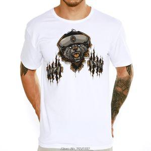 3D Russian Style Bear Design Men's T Shirt Male Boy Cool Tops Hipster Casual O-neck Summer Children T-shirt Harajuku Streetwear